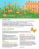 cover of Spring 2019 class insert