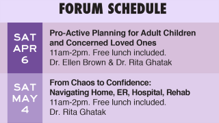 detail of care forum flyer