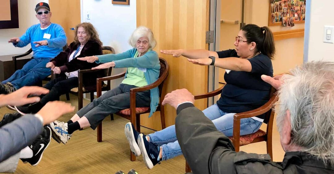 exercise class at Avenidas Rose Kleiner Center