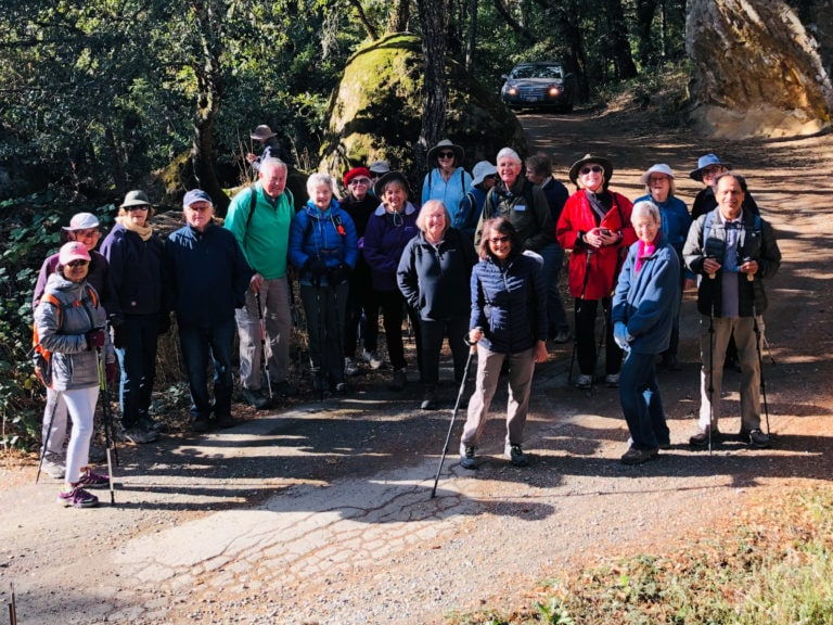 Group photo of Avenidas hikers at Skyline OSP