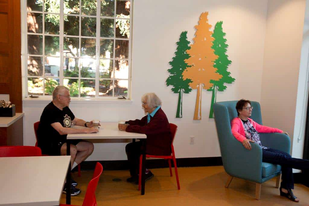 interior of The Redwood cafe