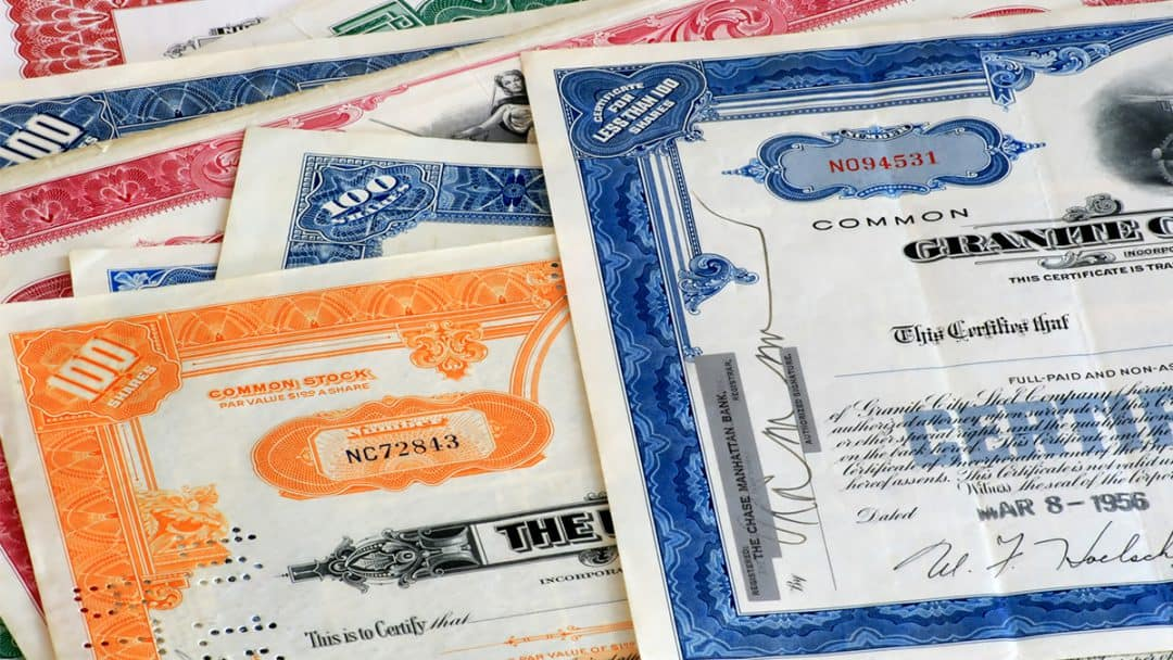 old stock certificates