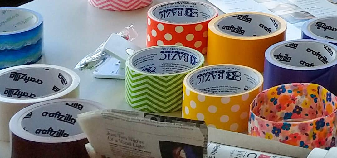 colored duct tape from Avenidas Handyman Services