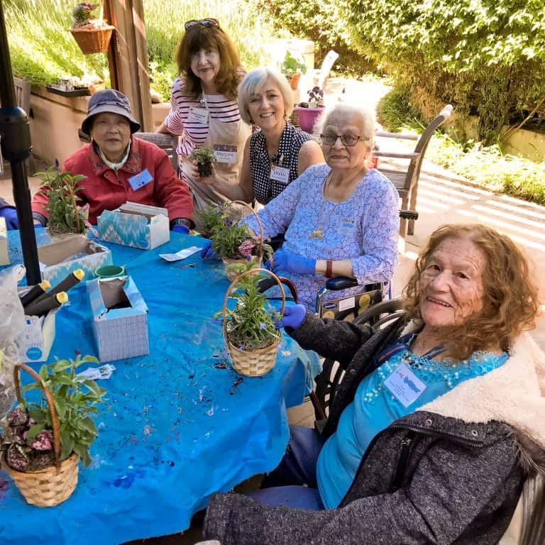 Avenidas Rose Kleiner Center gardening group in 2019