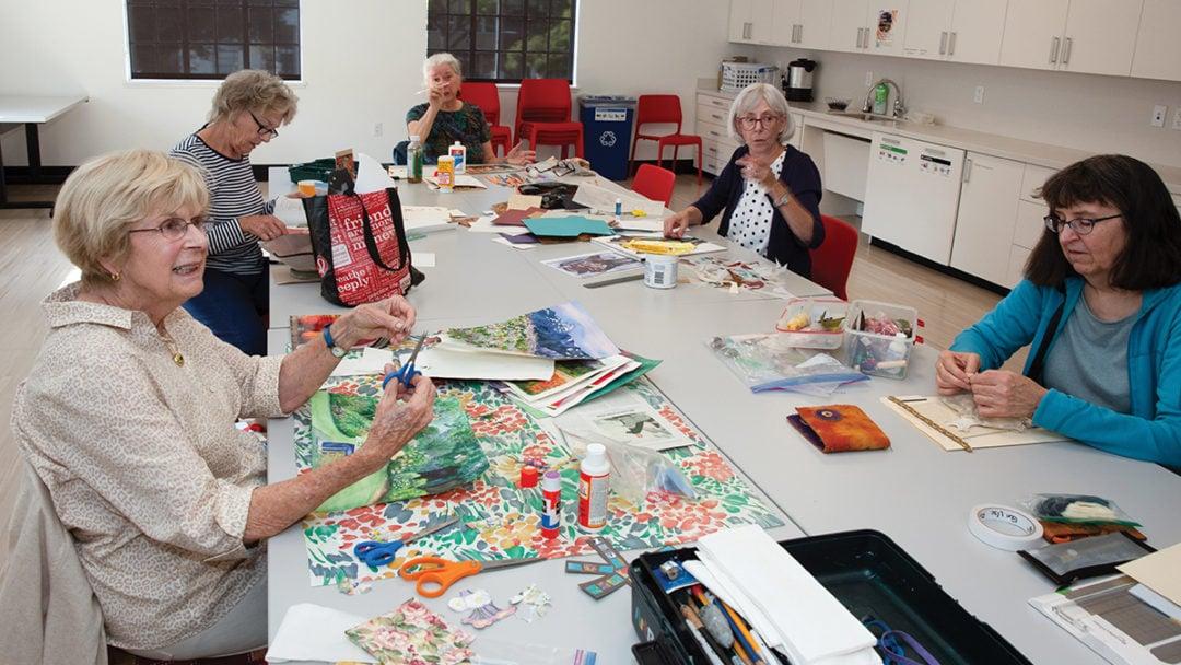 watercolor class at Avenidas