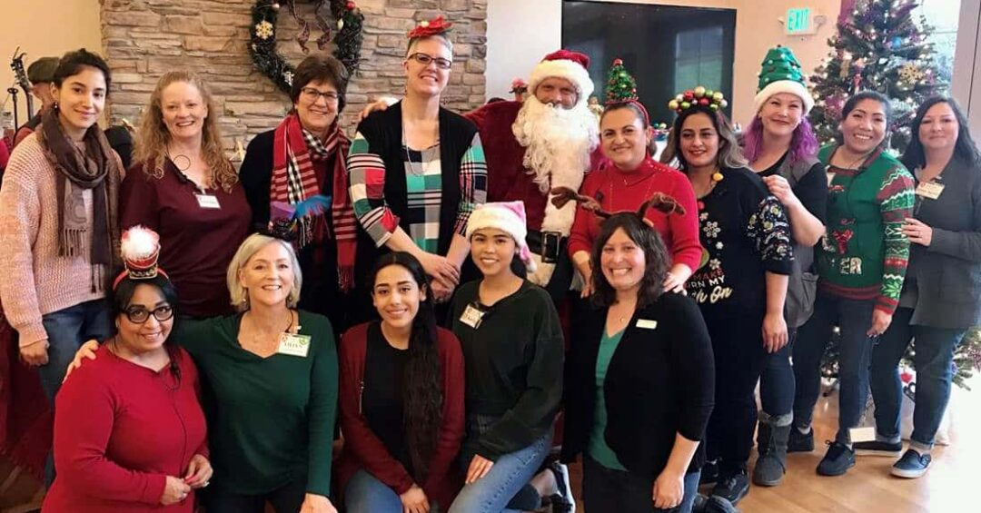 Avenidas Rose Kleiner Center staff holiday photo