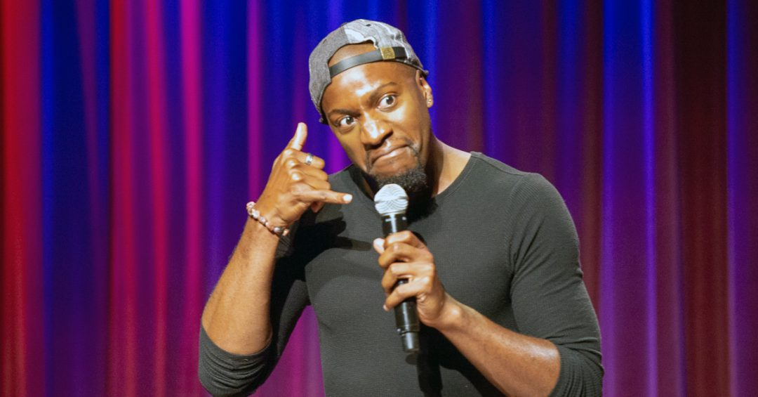 Comedian Sampson McCormick performing