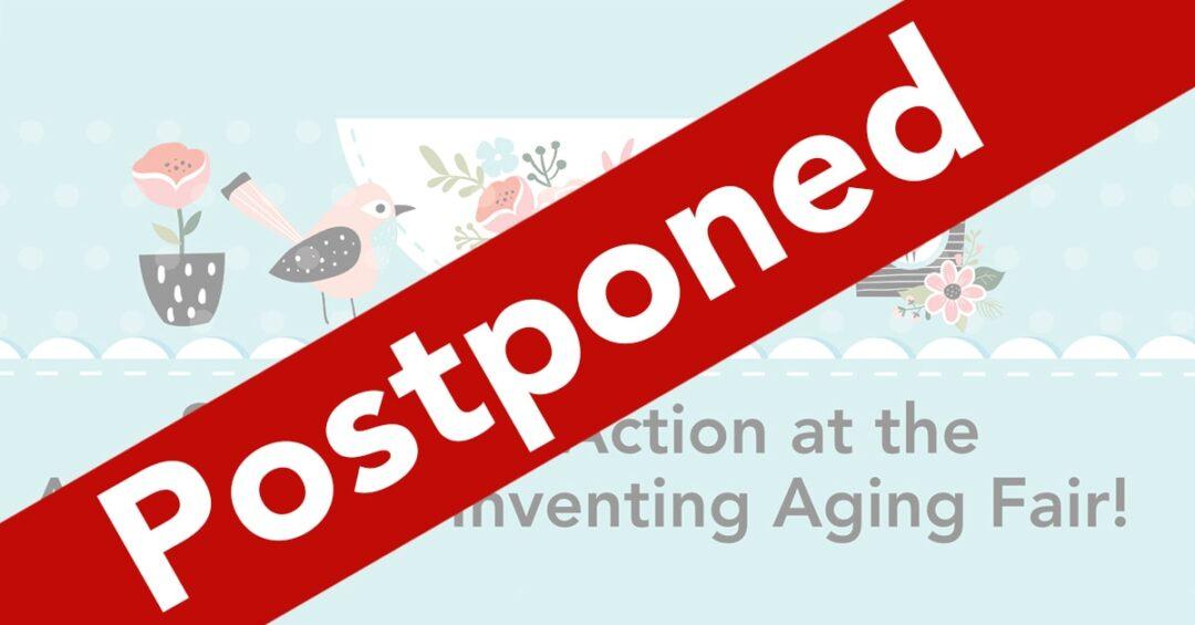 March 21 Aging Fair Postponed