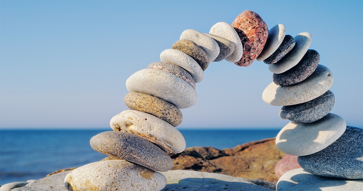 arch of river-washed stones (zen meditation)