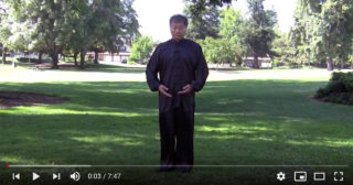 Tai Chi master Andrew Ching Lee prepares to begin a sequence of movements