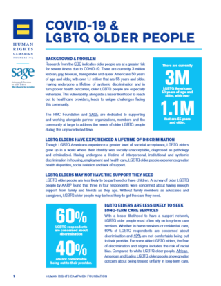 COVID-19 and LGBTQ Older People