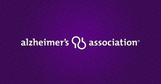 Alzheimer's Association logo in white on purple background