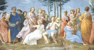 "detail of Raphael's painting ""Parnassus"""