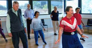 photo of line dancing class at Avenidas