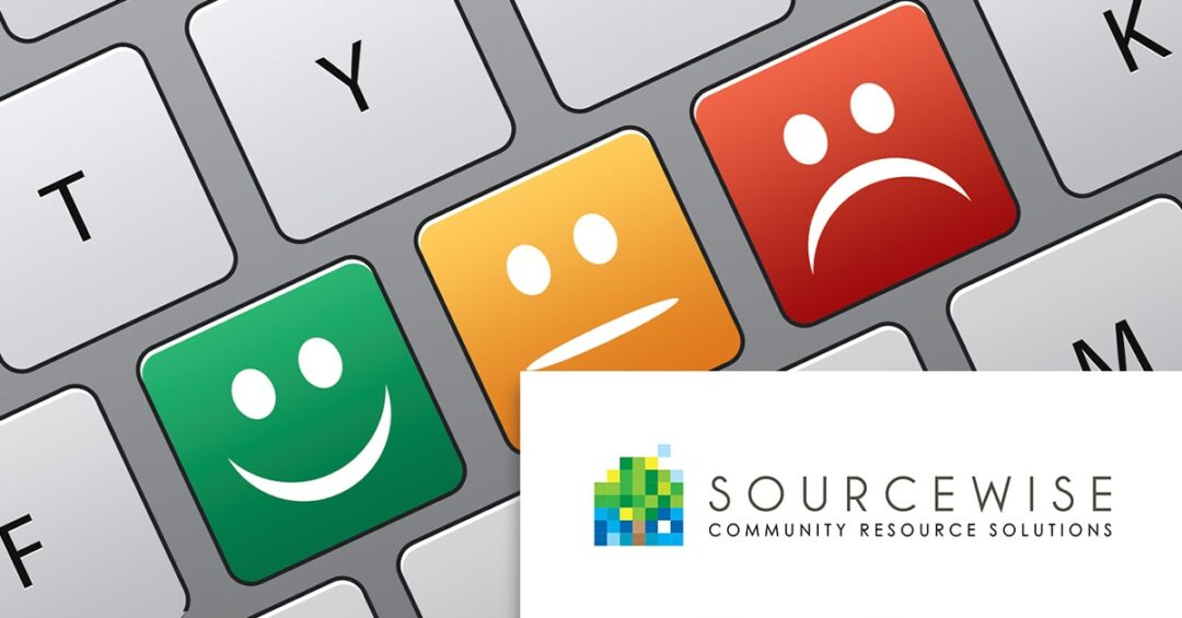 survey concept keyboard graphic with Sourcewise logo overlaid