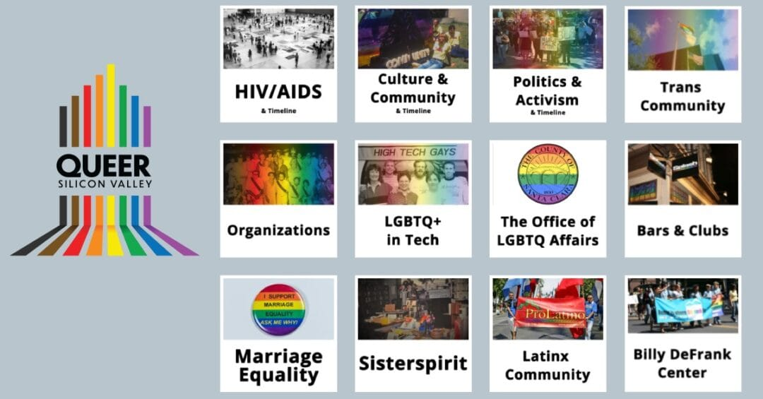 Queer Silicon Valley logo and features