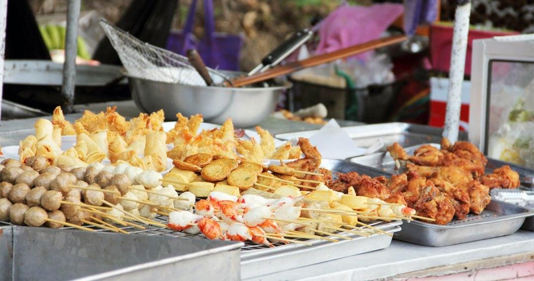 street food at a Thai market