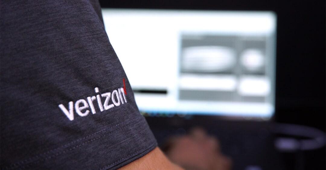 Detail of Verizon technician testing 5G network